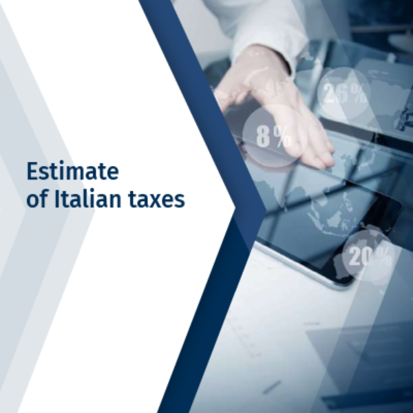 Estimate of Italian taxes