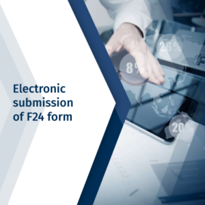 Electronic submission of F24 form
