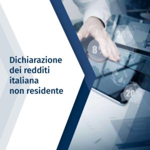 Dichiarazione dei redditi italiana – Non residente