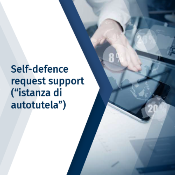 "Self-defence request support  (""istanza di autotutela"")"