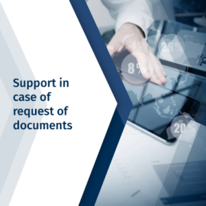 Support in case of request of documents