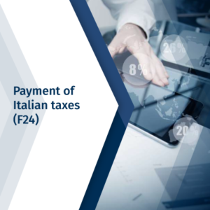 Payment of Italian taxes (F24)